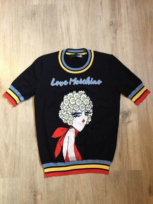 Love Moschino Short Sleeve Sweater multicolored