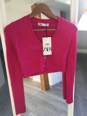 Feinstrick Cardigan Zara pink rosa S