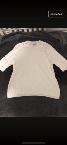 H&M Cárdigan de punto fino blanco puro