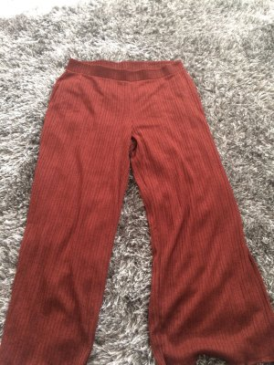Zara Woman Palazzo Pants cognac-coloured polyamide