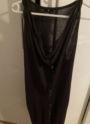 H&M Long Knitted Vest anthracite