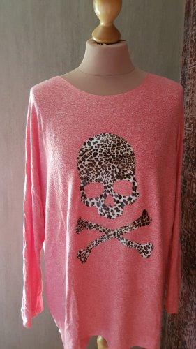 Made in Italy Koszulka z dzianiny jasnoczerwony-czerwony neonowy