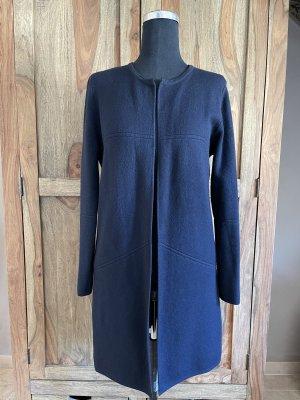 0039 Italy Manteau en tricot bleu foncé