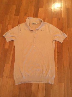 Feinstrick-Poloshirt mit Seidenanteil
