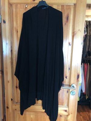 Zara Knit Gebreide poncho zwart