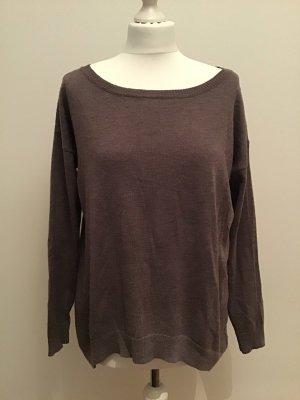 Feinstrick Pullover blasslila Reißverschluss am Rücken Gr.38