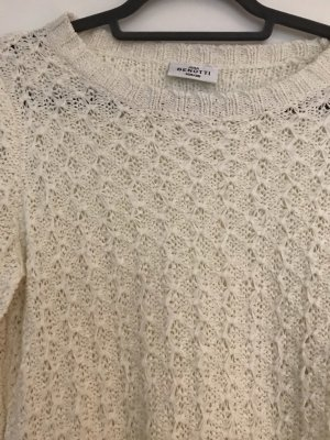 Feinstrick Pullover Creme/offwhite