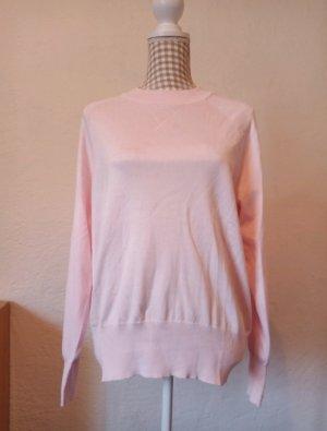 Feinstrick-Pullover in Rosa