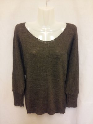 Feinstrick Pullover made in Italy Gr. M braun
