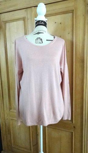 Feinstrick-Pullover - rosé - Gr. 42 - neu
