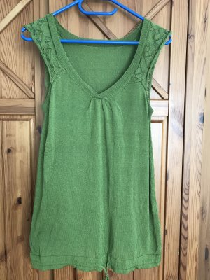 Fine Knitted Cardigan forest green-grass green