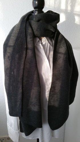 Pieces Bufanda de punto gris oscuro-gris antracita