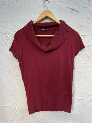 Zero Cowl-Neck Shirt carmine-bordeaux cotton