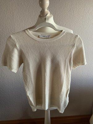 Feinstrick-Shirt ZARA beige
