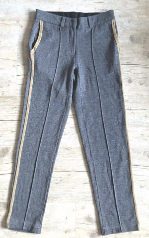 Stefanel Woolen Trousers grey-beige wool
