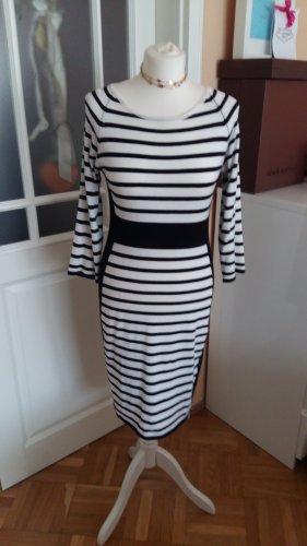 Amy Vermont Sukienka z dzianiny biały-czarny