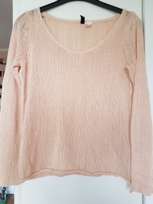 H&M Crochet Sweater pink