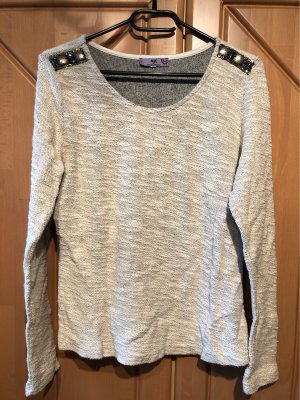 AJC Knitted Sweater cream-oatmeal