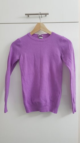 Stile Benetton Wool Sweater violet merino wool