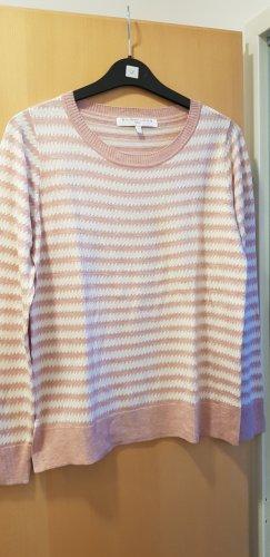 Next Fine Knit Jumper white-dusky pink