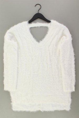 Feinstrickpullover Größe M weiß aus Nylon