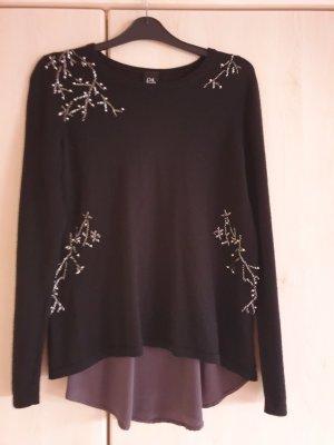 C'est Paris Fine Knit Jumper black-dark grey