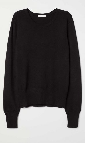 Feinstrickpullover schwarz Casuallook H&M