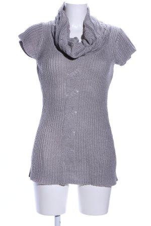 Cardigan en maille fine gris clair torsades style décontracté