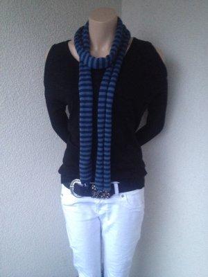 Knitted Scarf blue-dark blue