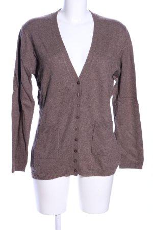 FELDPAUSCH Giacca-camicia marrone puntinato stile professionale