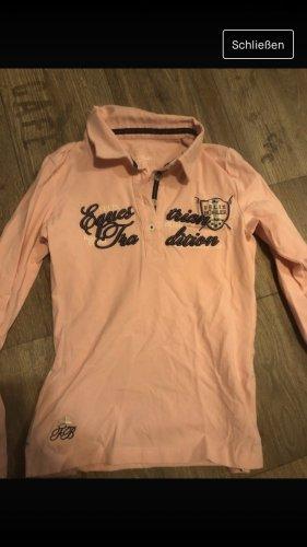 Felix Bühler Camiseta tipo polo rosa claro-azul oscuro