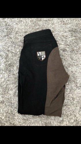 Pantalón de equitación negro-marrón