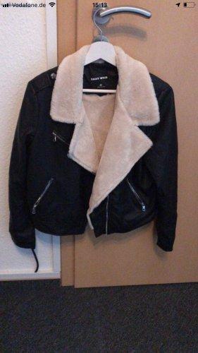 Tally Weijl Leather Jacket cream-black