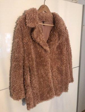 H&M Giacca di pelliccia color oro rosa