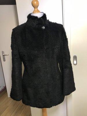 ae elegance Veste en fourrure noir