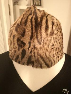 Cappello con visiera marrone chiaro-beige chiaro