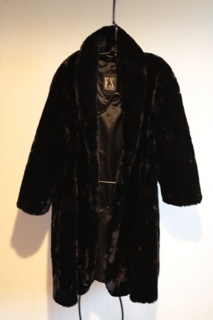 Fuchs Schmitt Manteau en fausse fourrure noir tissu mixte