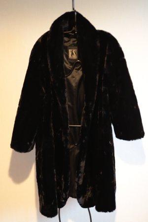 Fuchs Schmitt Fake Fur Coat black mixture fibre