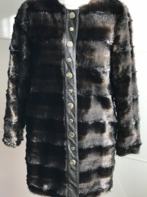 Zara Woman Fake Fur Coat brown-gold-colored