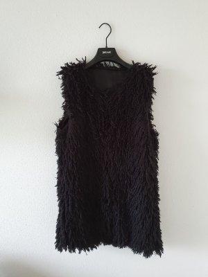Vest van imitatiebont zwart