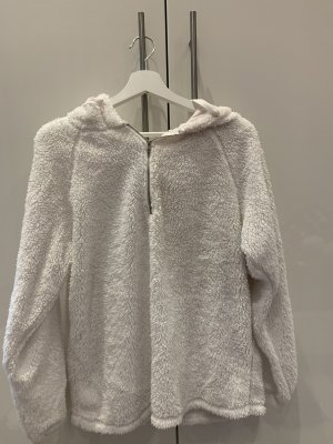 Capuchon sweater wit