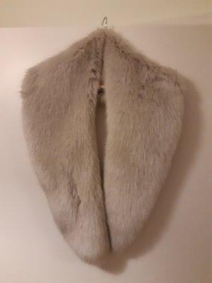 Zara Vest van imitatiebont licht beige