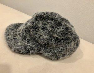 Fur Hat silver-colored-grey