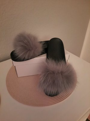Pantoffels lichtgrijs-grijs