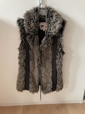 C&A Bontgilet taupe-donkerbruin