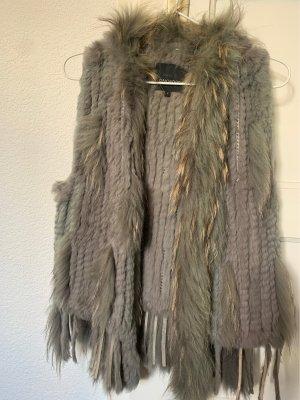 Oakwood Fur vest grey