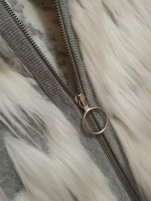 Zara Fur vest white-light grey