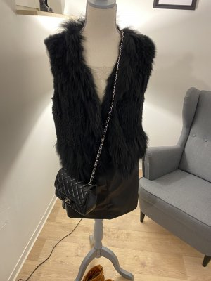 Milestone Fur vest black