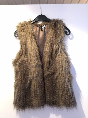 H&M Fur vest brown