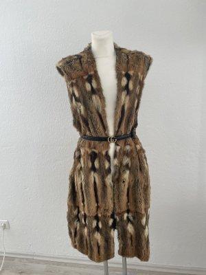 Fur vest brown